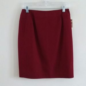 TALBOTS Women's Wool Pencil Lined Skirt Size: 8